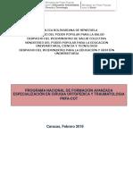 PNFA -Cirugia Ortopedica YTraumatologia