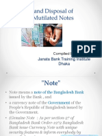 Detection & Disp.of Forged Notes