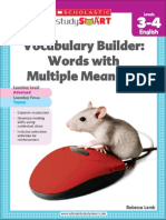 Vocabulary Builder Words With Multiple Meanings 3-4