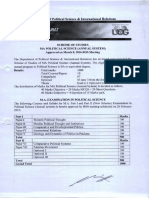 M.a (Pol Science) Scheme of Study