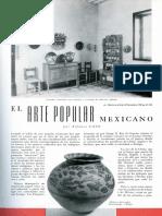 Alfonso Caso,  El Arte Popular Mexicano, 1952