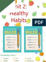 7º Básico Unidad 2 Healthy Habits