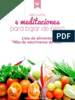 Guia de Alimentos permitidos para bajar de peso