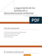 El Control y Seguimiento de Los Planes de Prevencion y Descontaminacion Ambiental PDF 565 Kb