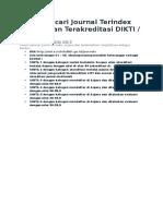 Cara Mencari Journal Terindex Scopus Dan Terakreditasi DIKTI