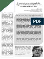 O Anacronismo Na Mobilização Dos Antigos Na Contemporaneidade - o Caso Do Platão de Bruno Latour (PDF)