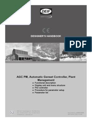 Deif Agc Pm Designer S Handbook 4189341008 Uk Parameter Computer Programming Relay