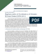 SOFI 240 Historia de La Iglesia 10.1 El Gran Cisma
