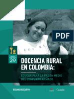 Resumen Ejecutivo Docencia Rural en Colombia Educar