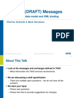 TAXII 1.0 Draft 1 Message Data Model and XML Bindings Briefing(1)