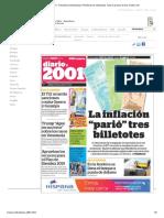 Periódico 2001 - Dosmiluno (Venezuela). Periódicos de Venezuela. Toda La Prensa de Hoy. Kiosko.net 25454545