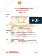 Programa Fiestas Del Cusco 2019