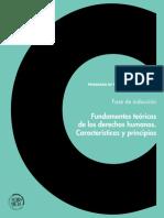 Fundamentos teóricos de los derechos humanos. Características y principios