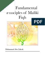 Fundamental Principles of Maliki Fiqh