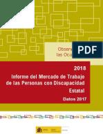 Informe Del Mercado de Trabajo de Las Personas Con Discapacidad. Datos 2017
