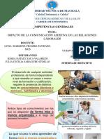 Impacto de La Asertividad en Las Relaciones Laborales Expo Saca - Saraguro