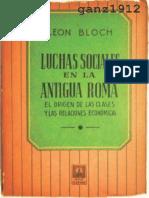 BLOCH, LEÓN - Luchas Sociales en la Antigua Roma.pdf