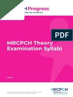 Mrcpch Theory Examination Syllabi v2 0