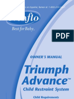 Evenflo Triumph Advance Carseat Installation Manual