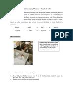 Determinacion de Cloruros laboratorio UNI figmm