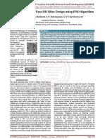 Higher Order Low Pass FIR Filter Design using IPSO Algorithm