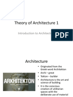 1. Introduction to Architecture Influence on Architecture