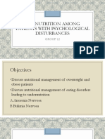 Malnutrition Among Patients With Psychological Disturbances 1