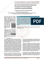 Identifying Three Phase Induction Motor Equivalent Circuit Parameters from Nameplate Data by Different Analytical Methods