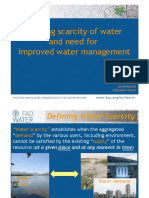 Ppt on Water Scarcity