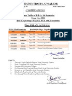 Time Table of B.B.a. Ist Semester (for SOS & College - Regular_Ex_ATKT - Students) Exam Dec. 20181992