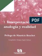 Interpretación, Analogía y Realidad