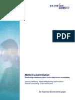Marketing Optimisation - Experian