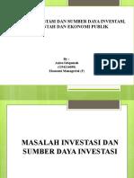 masalah investasi dan sumber daya investasi