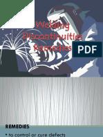 L1 - Welding Discontinuities Remedies