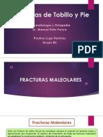 Fracturas de Tobillo y Pie