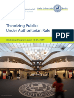 Theorizing Publics Under Authoritarian Rule Program 2019