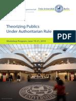 Theorizing Publics Under Authoritarian Rule Program 2019