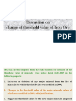 Threshold Value of Iron-ore Ibm
