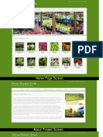 Online Nursery Store Project Screens