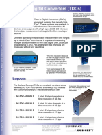 Precision Measurement Overview Tdcs