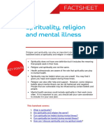 Spirituality and Mental Illness Factsheet