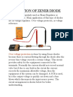 Application of Zener Diode