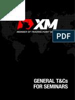 General T&Cs for Seminars