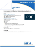 Advanced Testing PDH (T-Carrier) and Datacom Testing
