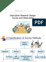 Descriptive Methods- Survey