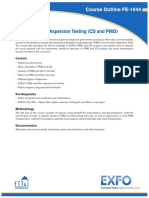 Introduction to Dispersion Testing (CD and PMD)
