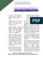 Material de estudo sobre Projeto Político Pedagógico