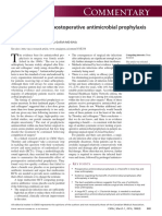Arthroplasty and Postoperative Antimicrobial Prophylaxis