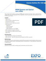 Introduction to WDM Systems and Optical