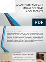 Abandono Familiar y Moral Del Niño Adolescente